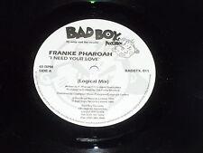 """FRANKE PHAROAH - I need your love - 1995 UK promotional 3-track 12"""" Vinyl Single"""