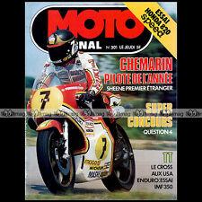 MOTO JOURNAL N°301 HONDA 820 SPEED CB 750 F1 '77 ★ POSTER JEAN-CLAUDE CHEMARIN ★