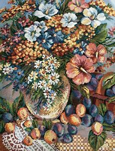 Russian Gobelin Tapestry Table Center Stoleschnica Rococo Style Jacquard 54x54cm