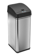 13 Gallon Automatic Motion Touch Sensor Trash Can Stainless Steel Garbage Bin