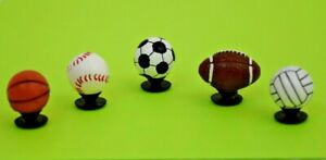 Crocs Jibbitz Charms 3D Baseball Basketball Volleyball Soccer Football *All 5 !!