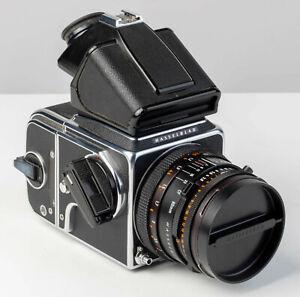 Hasselblad 500c/m Black Body w/ 80mm f/2.8 Zeiss CF T* Lens. Original Owner