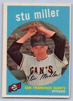 1959  STU MILLER - Topps Baseball Card # 183 - SAN FRANCISCO GIANTS
