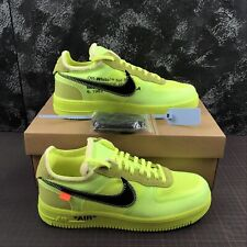 NIKE AIR FORCE 1 X OFF WHITE NUOVE NEW SCARPE SHOES SNEAKERS CON SCATOLA GIALLO