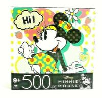 """Minnie Mouse 500 pc Disney Jigsaw Puzzle Pink Teal And Red 11""""x 14"""""""
