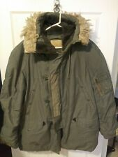 Vntg. (1978) Parka Extreme Cold Weather Type N-3B Snorkel Hood Synth Fur Size L