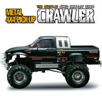 Black HG P407 1/10 2.4G 4WD 3CH Rally RC Car 4X4 Pickup Truck Rock Crawler RTR