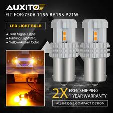 2x 7506 1156 Amber Yellow LED Tail Turn Signal Indicator Light Bulb BA15S PY21W