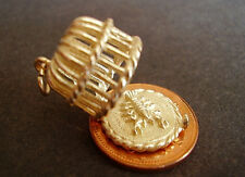 BEAUTIFUL 9CT GOLD OPENING '  LOBSTER POT ' CHARM