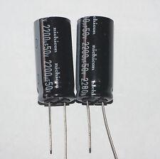 2200uF 50V Radial Nichicon Electrolytic capacitors, 2 pcs, New. USA SELLER