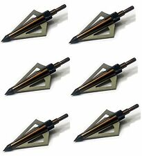 125 Grain Fixed blade Broadhead 6pcs/pack - For Crossbow and Compound arrows - B