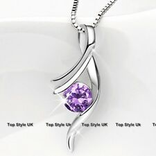 Silver 925 Amethyst Jewellery Xmas Christmas Women Gifts Girls Presents Mum J278