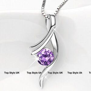 Silver 925 Amethyst Jewellery Xmas Christmas Women Gifts Girls Presents Mum J278