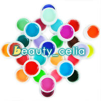 30 Colors Pure Solid UV Gel Nail Art Tips Polish Builder Manicure Lamp Set Kit