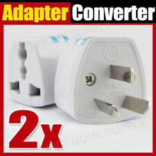 2x Universal Travel Adapter International UK USA EU to AU Australian Power Plug