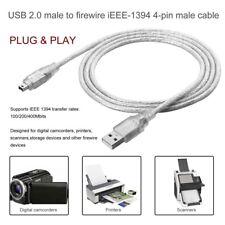 1.2m USB 2.0 Stecker auf Firewire IEEE 1394 4 Pin Stecker iLink Adapterkabel GE