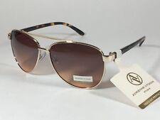 252974db33 Adrienne Vittadini Women s Aviator Sunglasses Gold Tortoise Brown Gradient  Lens