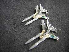 Battletech / Aerotech Ral Partha Samurai SL-25 Fighters x2 - Unseen, Metal (2)