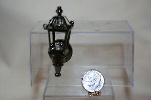 Miniature Dollhouse LED Victorian Coach Light Lantern Gunmetal Color 1:12 NR