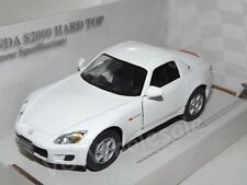 "Honda S2000 Hard Top White Die Cast Metal Model Car 5"" Kinsmart Collectable New"