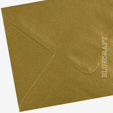 200 x A6 C6 Gold Metallic Premium Envelopes Cardmaking Projects - 6 x 4 inches
