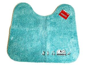 PEANUTS SNOOPY Toilet Mat Mini Rug Floor Bathroom Bath Room Japan turquoise NWT
