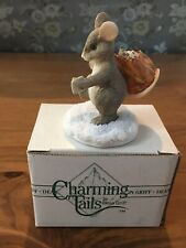 "Charming Tails ""Mail Mouse Figurine� Dean Griff - New In Box"