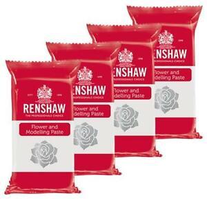 Renshaw WHITE Flower Modelling Paste - 1KG - for Cake Decorating & Sugarcraft