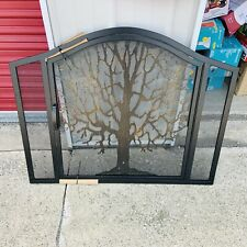 Tree of Life Fireplace Screen with Door-66A24Bk *Beautiful * New