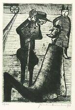 HERMANN NAUMANN - Zu Franz Kafka - Ein Hungerkünstler - Radierung 1956