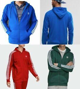 Adidas Men Trefoil Three Stripe Zipped Hoodie Sweatshirt - (PP108)