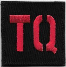 "2"" x 2"" Red Black TQ Tourniquet Patch VELCRO BRAND Hook Fastener Compatible"