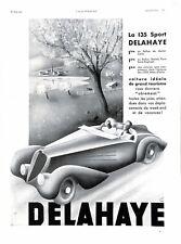Publicité Automobile Delahaye 135 Sport Soutien-Gorge & ceintures Kestos 1937