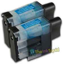 2 LC900 Cyan Ink Cartridge Set For Brother Printer MFC3342CN MFC410CN