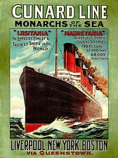 Cunard Line Steamship Poster, Lusitania Mauretania, Titanic Contemporary 18 x 24
