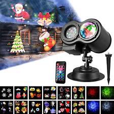 LED Ocean Wave Christmas Projector Light Xmas Outdoor Garden Laser Lamp US
