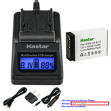 Kastar Battery LCD Fast Charger for Canon LPE17 EOS RP Mirrorless Digital Camera