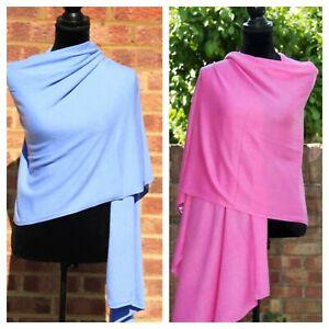 Cashmere Wrap Scarf Ladies Warm Pashmina Hand Knitted Blanket Travel Shawl