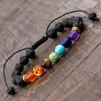 Adjustable Lava Bracelet, 7 Chakra Healing, Essential oil, Reiki, Yoga,