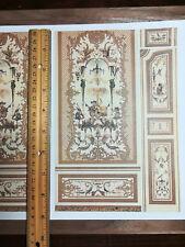 Dollhouse Miniature Gardens of Kashmir Wall Panels Mural Wallpaper 1:12 Scale