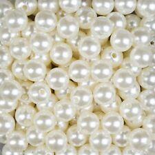 150 ml Dekoperlen Bastelperlen Wachsperlen mit Loch perlmutt Hochzeit Deko 14 mm