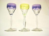 3 Likörgläser Ludwig Moser Wien Kristallglas Lady Hamilton  Art Glass Vienna