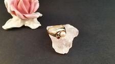 Goldring Ring 14 k 585 Gelbgold  mit Perle, Karneol Gr 55 4 Gramm Handarbeit