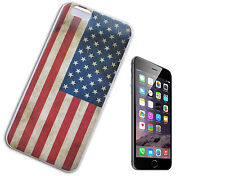 "COVER CASE FLIP COMPATIBILE APPLE IPHONE 6 4.7 "" TPU BANDIERA AMERICANA USA Y"