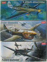3x ACADEMY 1668 1671 2177 - WARHAWK AIRACOBRA - Flugzeug Bausätze - 1:72 - Kit