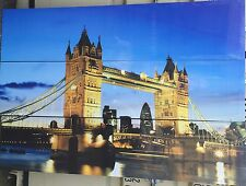 Tower Bridge Trypitch  169cm x 39cm on Wooden Stretcher Frame set of 3(b)