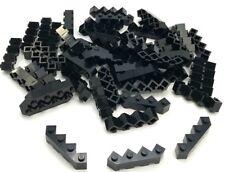 Lego 50 New Black Bricks Modified Facet 4 x 4 Dot Pieces