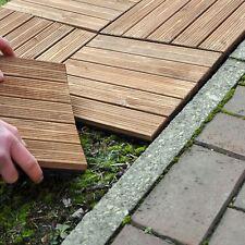 9 Pack Wooden Decking Tiles Deck Easy Click Slabs Garden Outdoor Patio Floor