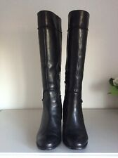 Clarks Other Rose Black Leather Knee Boots 6.5