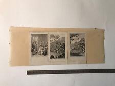 James Cook, guillermo tell, D. Chodowiecki, 3 aguafuertes grabados